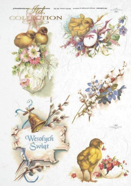 Easter, chickens, flowers, spring, eggs, Easter eggs, bell, R300