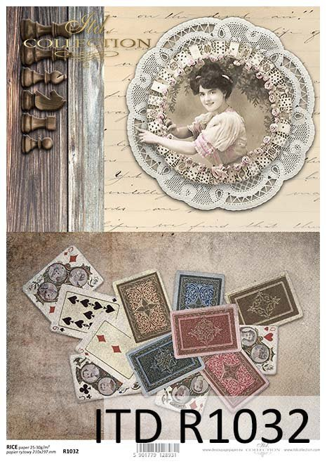 karty do gry, ruletka, figury do szachów*playing cards, roulette, figures chess