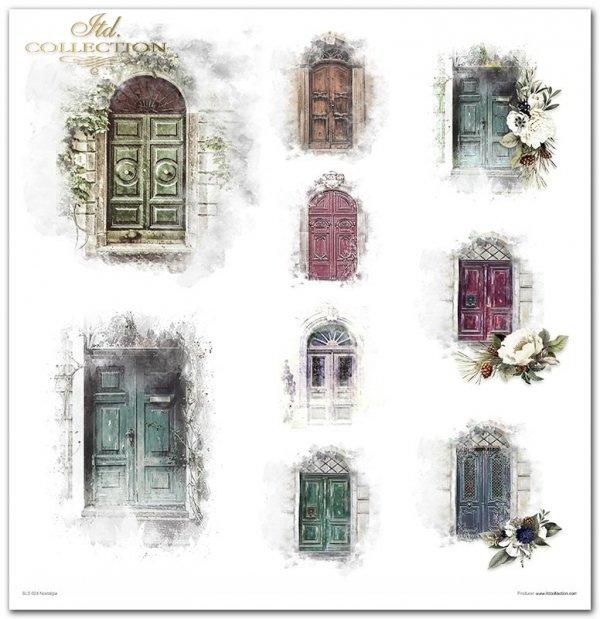 Nostalgia*Drzwi, drzwi drewniane, drzwi ozdobne, drzwi z kwiatami, zabytkowe drzwi