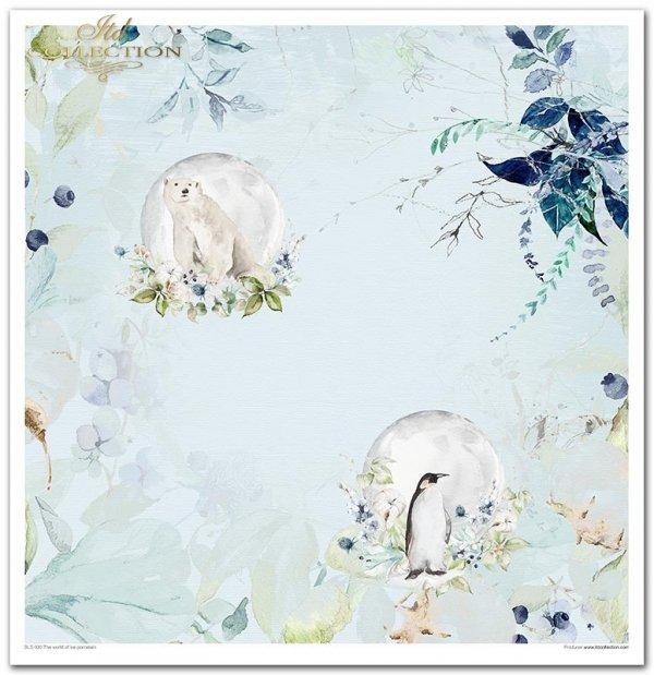 The world of ice porcelain - Kraina Lodowej Porcelany, święta, zima, pingwin, lis, niedźwiedź, sowa, zając, miś polarny, listki, szron