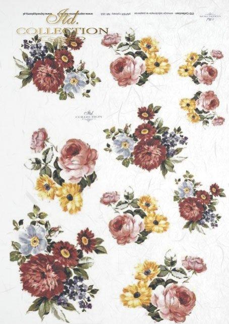 papier-ryżowy-decoupage-łąka-ogród-lato-bukiet-kwiaty-R0163