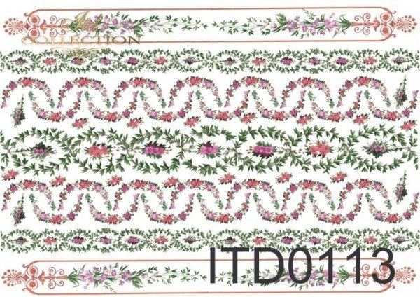 Papier decoupage ITD D0113