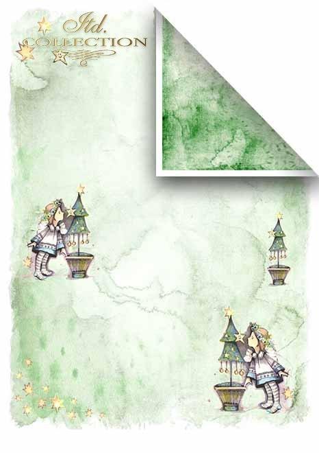 Scrapbooking papeles en sets - Ángeles y árboles de navidad*Скрапбукинг бумаги в наборах - Ангелы и елки