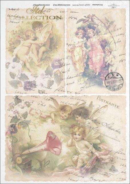 elves, vintage, flowers, old postcards, fairy tales, R345