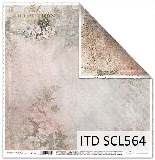Papier do scrapbookingu dwustronny-kwiaty*Paper for scrapbooking-sided flowers