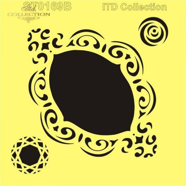 ST0167-szablon-stencil-Schablone-plantillas-maska-ramki-narożniki-ozdobniki-dekory-ornamenty
