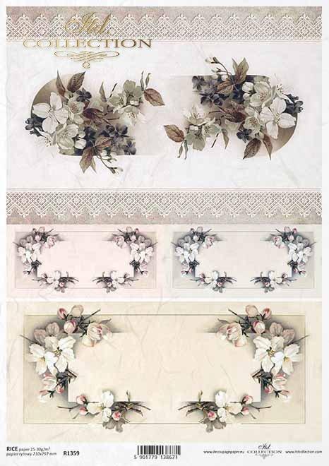 flores de decoupage de papel de arroz, decoraciones de primavera, encaje*Reispapier Decoupage Blumen, Frühling Dekore, Spitze*рисовая бумага декупаж цветы, весенние декоры, кружева