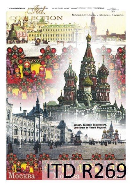 Moskwa, Moscow, Kreml, Plac Czerwony, cerkiew Wasilia Blazenego, R269