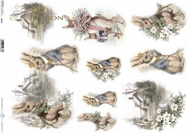 Pascua, conejitos vintage, vistas rurales de primavera*Ostern, Vintage Hasen, ländliche Ausblicke des Frühlings*Пасха, винтажные зайчики, весенние деревенские перспективы