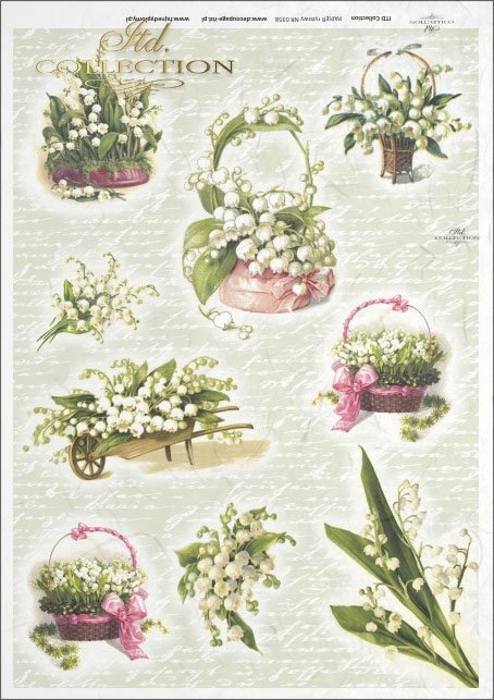 flower, flowers, lily of the valley, bouquet, bouquets, wheelbarrow, wheelbarrows, flower basket, baskets, R358