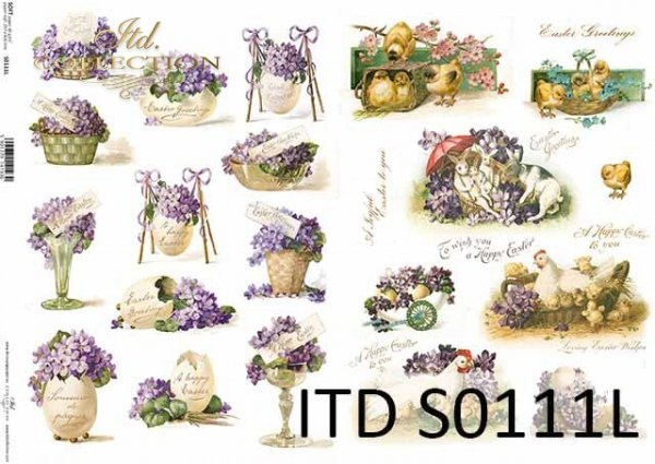 Papier decoupage SOFT ITD S0111L