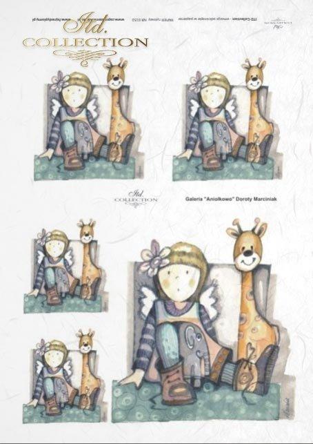 papier-ryżowy-decoupage-anioł-aniołek-aniołki-żyrafa-aniołkowo-Dorota-Marciniak-R0152