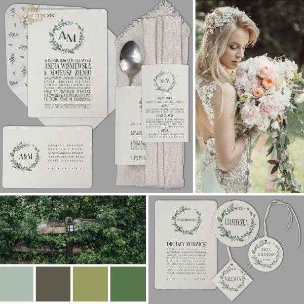 Zaproszenia ślubne*zaproszenia w stylu Glamour*dodatki ślubne*winietki*menu