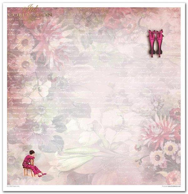 Kolekcja 'Francuski szyk', wieża Eiffla, motyl, róże, karoca, szpilki, manekin, napisy, rower, VintageKolekcja 'Francuski szyk', wieża Eiffla, motyl, róże, karoca, szpilki, manekin, napisy, rower, Vintage