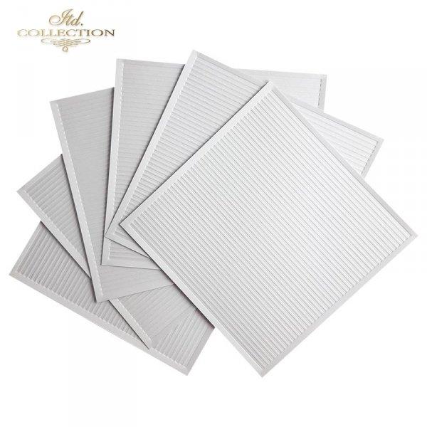 Zestaw 6 papierów specjalnych do mix media, scrapbookingu-wąskie paski, paseczki