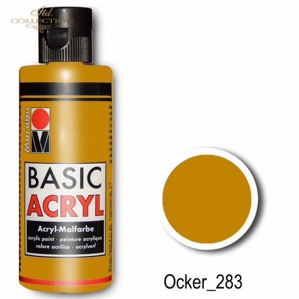 Farba akrylowa Basic Acryl 80 ml Ocker 283