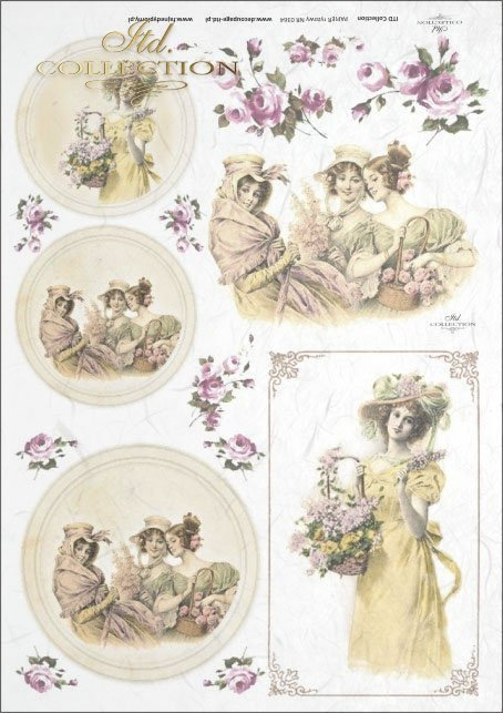 vintage, retro, woman, dress, flowers, rose, roses, flower decorations, ornaments, medallion, frame, romance, R364