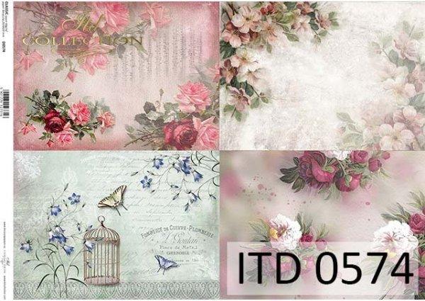 papier do decoupage z kwiatami*Paper to decoupage with flowers