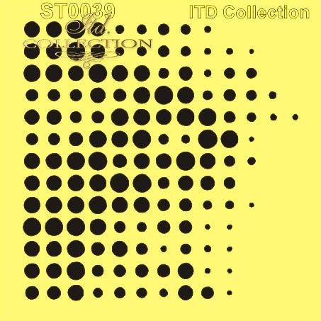 ST0039 - kropeczki, kropki, kółka