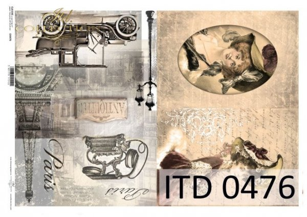 Papier decoupage ITD D0476M