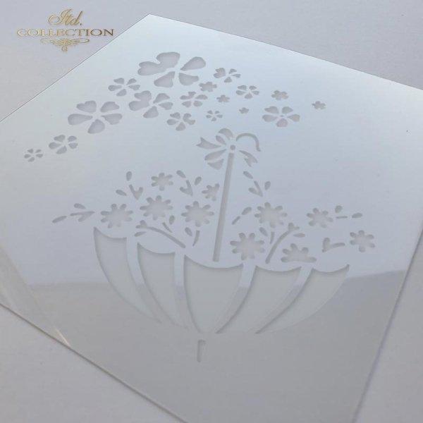 ST0019 - Parasolka, kwiatki