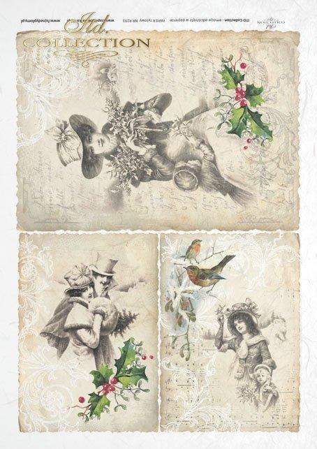 decoupage-scrapbooking-mixed-media-Christmas-winter-Romantic-romantic-retro-vintage