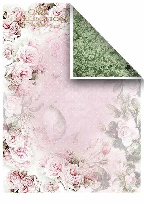 Papiery do scrapbookingu w zestawach - Piękne róże * Papers for scrapbooking in sets - Beautiful roses