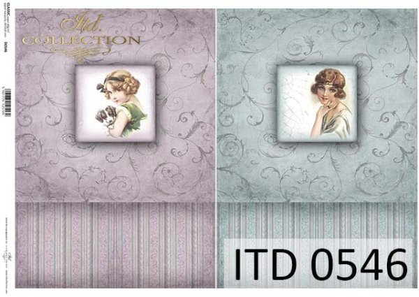Papier decoupage ITD D0546