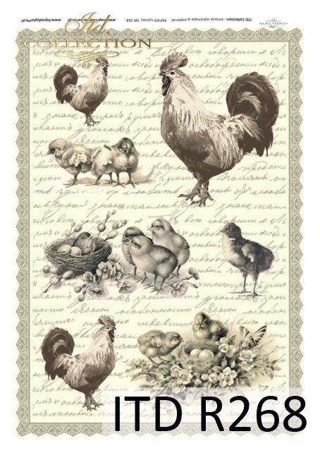 Wielkanoc, wiosna, retro, jajka, kurczaki, R268