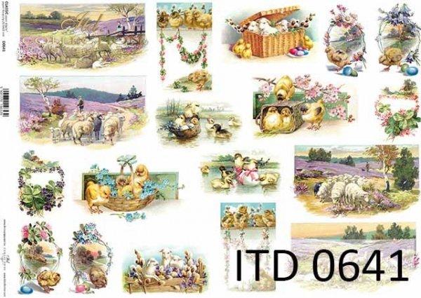 Papier decoupage ITD D0641