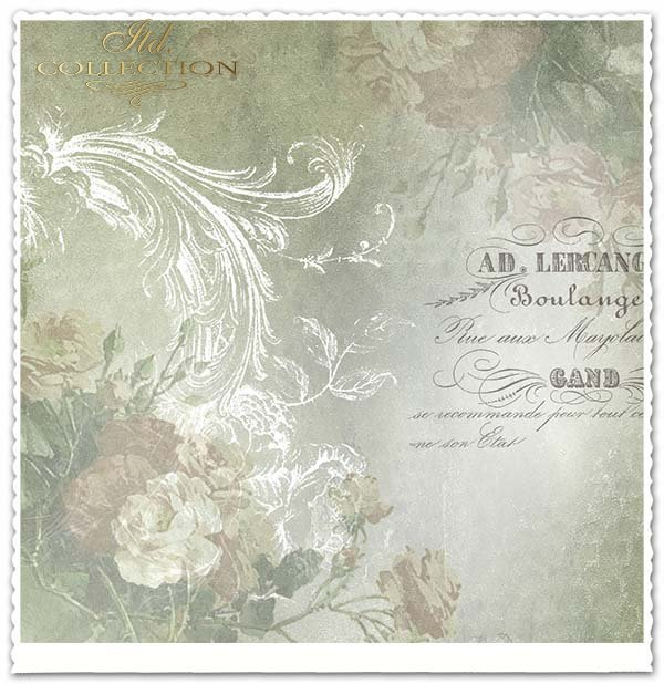 papier do scrapbookingu, kwiaty, napisy, Vintage*Paper for scrapbooking, flowers, inscriptions, vintage