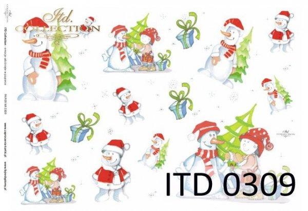 Christmas, winter, snowman, children's, D309M, Dorota Marciniak