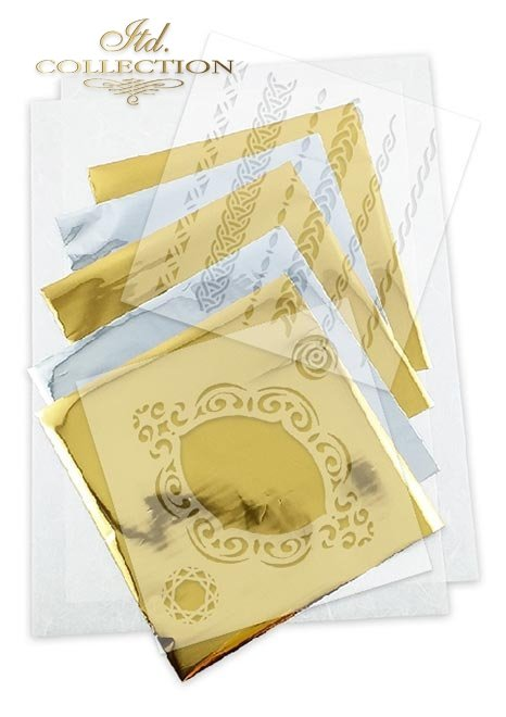 Zestaw kreatywny na papierze ryżowym - Kamienie szlachetne*Creative set on rice paper - Gemstones