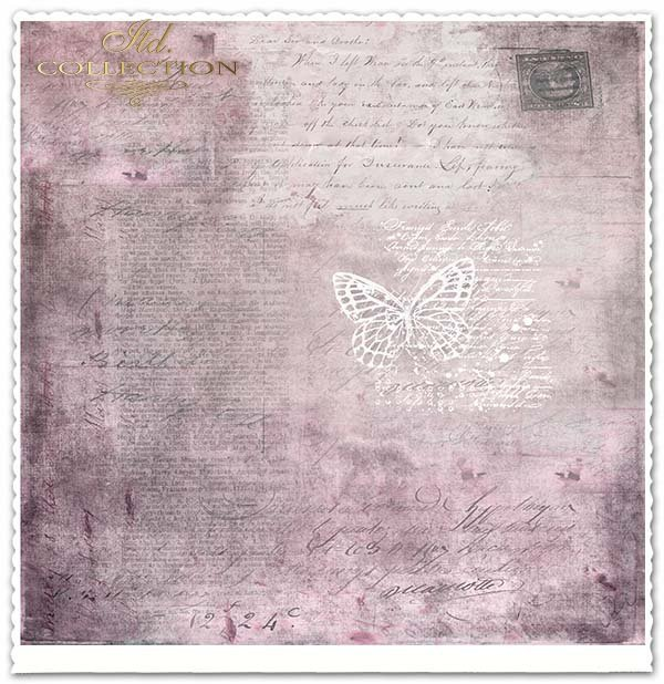 Papier do scrapbookingu - kwiaty, pszczoła*Paper for scrapbooking - flowers, bee