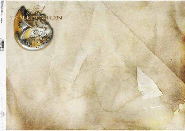 Papel decoupage con máscara veneciana, carnaval, textura*Decoupage-Papier mit venezianischer Maske, Karneval, Textur*Декупаж из бумаги с венецианской маской, карнавал, фактура