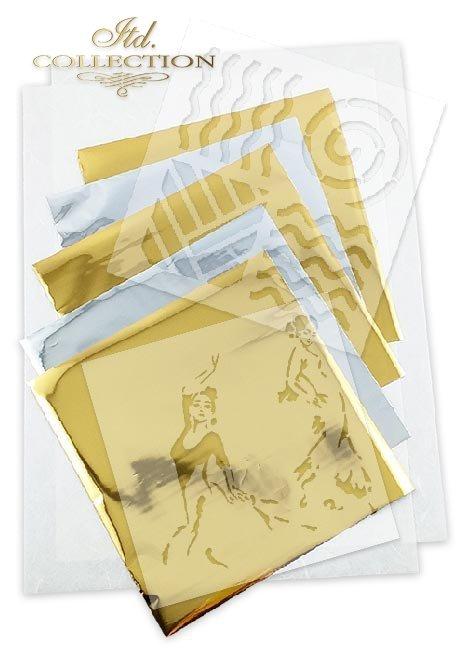 Zestaw kreatywny na papierze ryżowym - Ogień * Creative set on rice paper - Fire