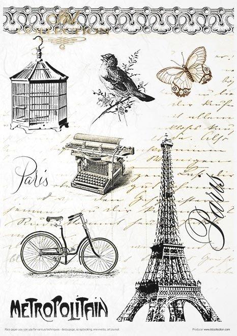 Zestaw kreatywny na papierze ryżowym - Art Journal zestaw Prowansja*Creative set on rice paper - Art Journal set Provence