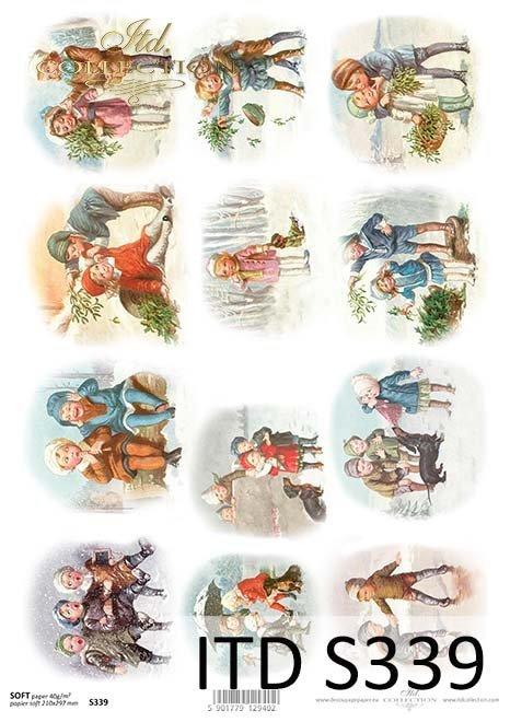 Papier decoupage świąteczny*Paper decoupage Christmas