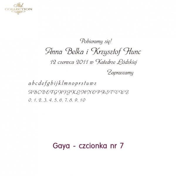 Czcionka na zaproszenie 07