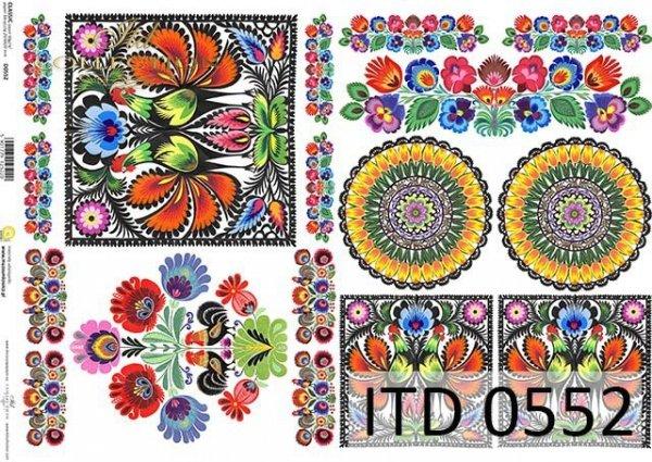 Papier decoupage ITD D0552