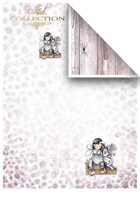 Papeles para scrapbooking en sets - Ángeles, Semana Santa * Бумага для скрапбукинга в наборах - Ангелы, Пасха