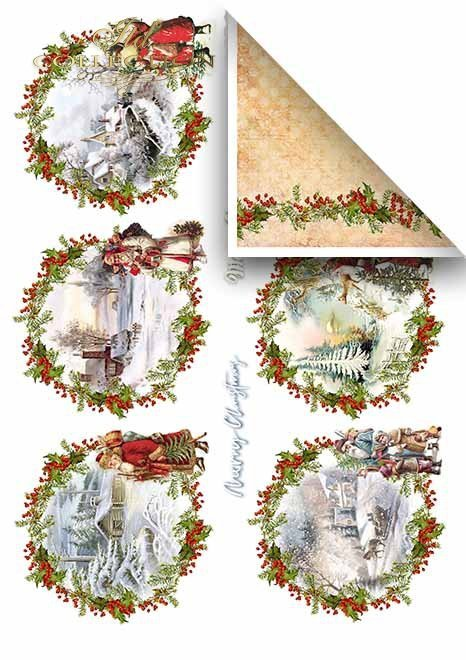 Papeles para scrapbooking en sets - Feliz Navidad*Бумаги для скрапбукинга в сетах - С Рождеством Христовым