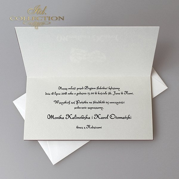 Zaproszenia ślubne / zaproszenie 2042