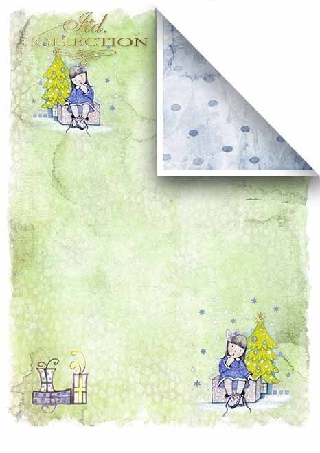 Scrapbooking papeles en sets - Ángeles y regalos*Скрапбукинг бумаги в наборах - Ангелы и подарки