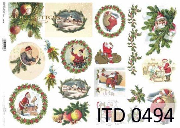 Papier decoupage ITD D0494