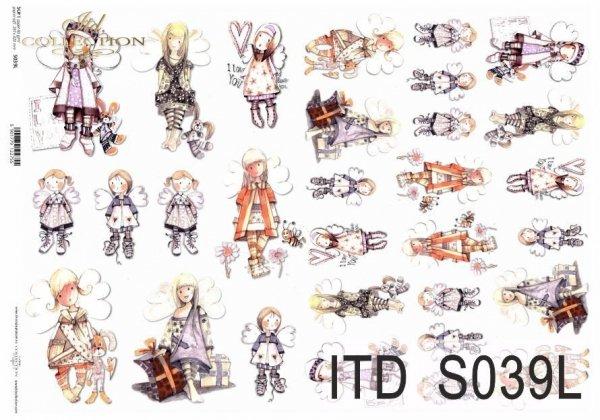 Papier decoupage SOFT ITD S0039L