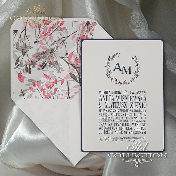 Zaproszenie 2066, zaproszenia ślubne*2066 invitation, wedding invitations