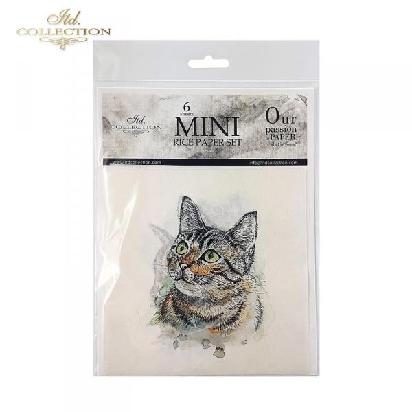 Zestaw papierów ryżowych ITD - RSM006 * zwierzęta: psy, koty