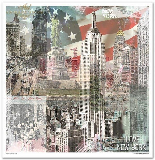 Seria Beautiful cities, miasta, stolice, piękne miasta, Paryż, Barcelona, Łódź, Londyn, Nowy Jork, kolaże, collage