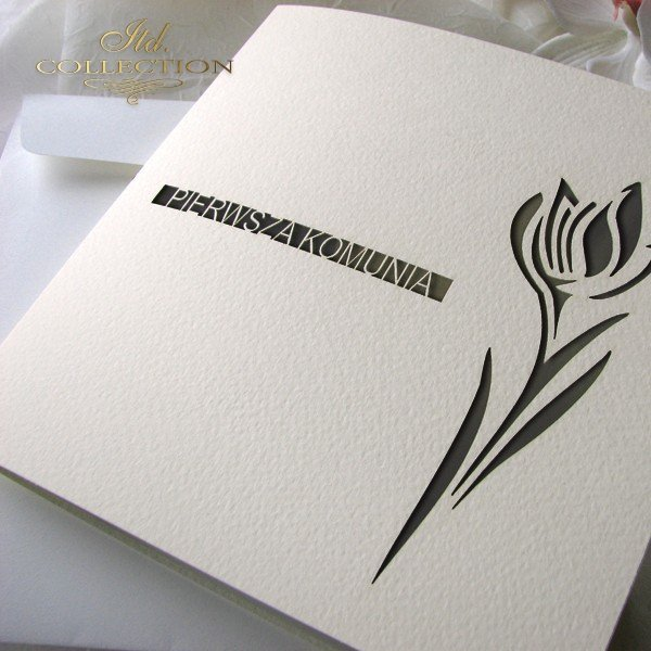 Zaproszenia  na Komunię Świętą 1732_006_tulipan